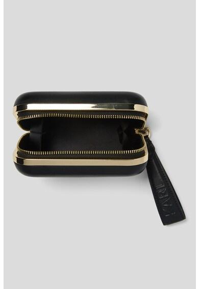 Karl Lagerfeld Geanta plic de piele cu aplicatii de litere metalice Femei