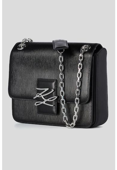 Karl Lagerfeld Geanta crossbody mini structurata de piele cu aspect texturat K/Autograph Femei