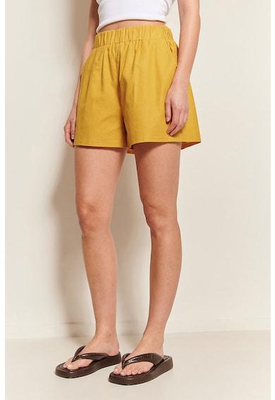 NA-KD Pantaloni scurti din amestec de in cu talie elastica Femei