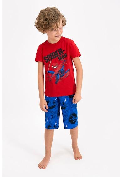 Disney Pijama scurta de jerseu cu imprimeu cu Spiderman Baieti