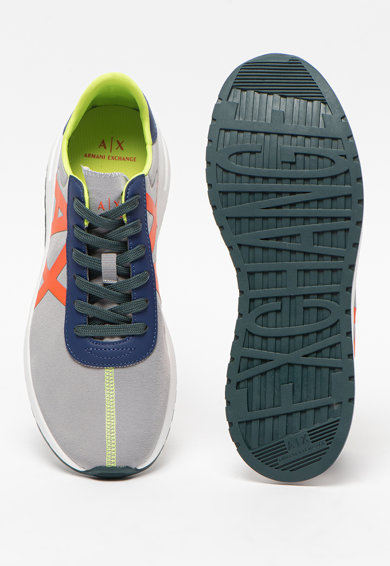 ARMANI EXCHANGE Pantofi sport din material textil cu logo Barbati