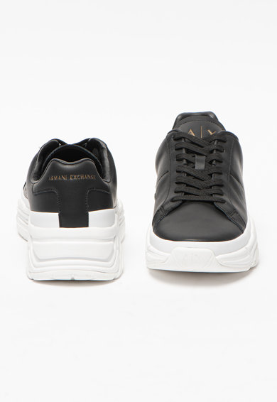 ARMANI EXCHANGE Pantofi sport de piele si piele ecologica cu logo Barbati