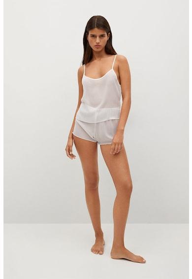 Mango Pantaloni scurti transparenti de pijama Alma Femei