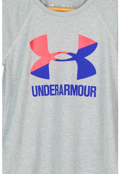 Under Armour Tricou lejer cu logo supradimensionat, pentru fitness Fete