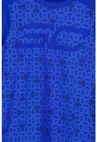 Under Armour Tricou cu decolteu la baza gatului si imprimeu Albastru inchis Baieti