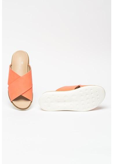 KEDDO Papuci de piele ecologica cu barete cu model incrucisat Femei