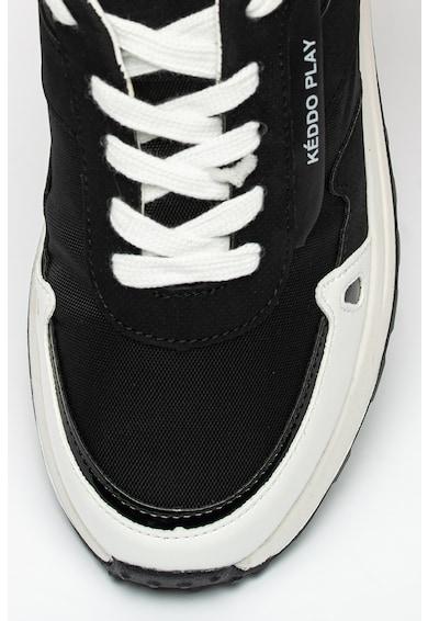 KEDDO Pantofi sport cu insertii de piele ecologica Femei