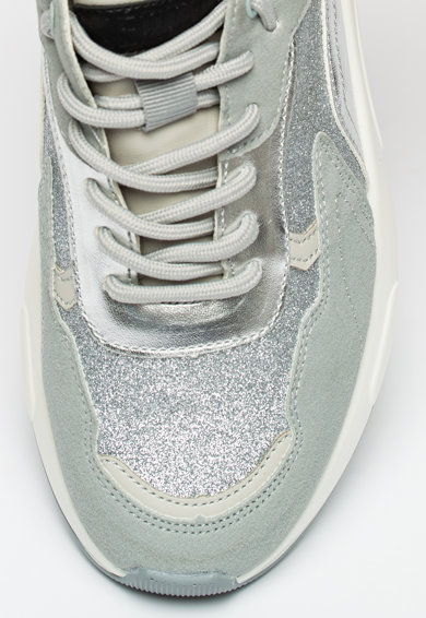 KEDDO Pantofi sport wedge cu aspect stralucitor Femei