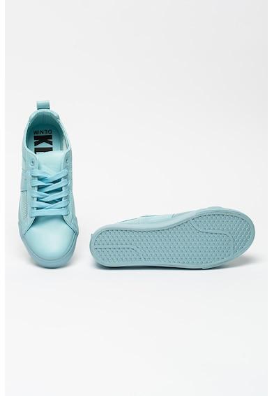 KEDDO Pantofi sport de piele ecologica cu insertii de plasa Femei