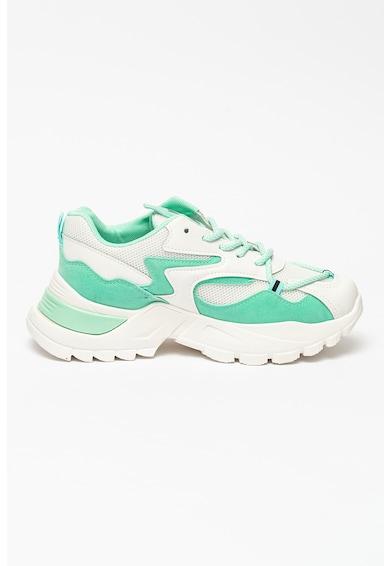 KEDDO Pantofi sport de piele cu insertii de plasa Femei