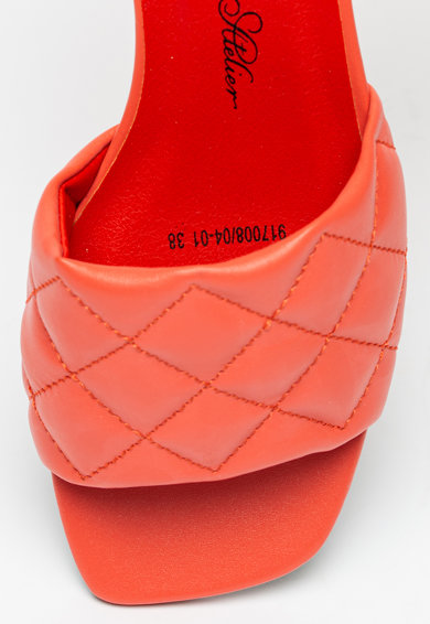 BETSY Papuci de piele ecologica cu aspect matlasat Femei