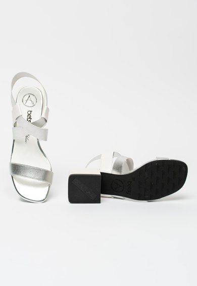 BETSY Sandale de piele ecologica cu aspect metalizat Femei