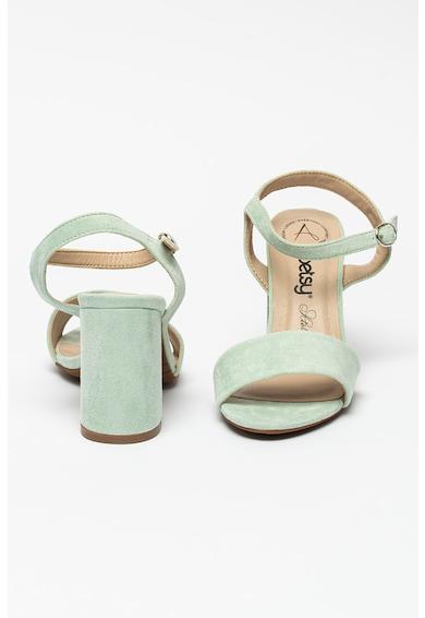 BETSY Sandale de piele intoarsa ecologica cu toc masiv Femei