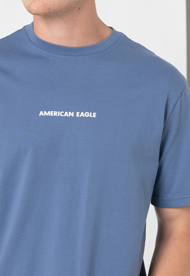 American Eagle Памучна тениска с овално деколте Мъже