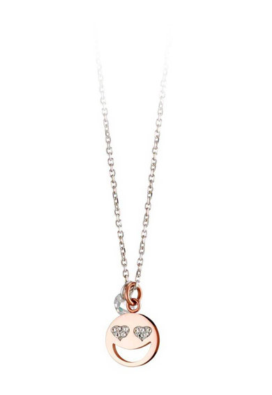 Loisir by Oxette Colier placat cu aur Symbol Emoji Femei