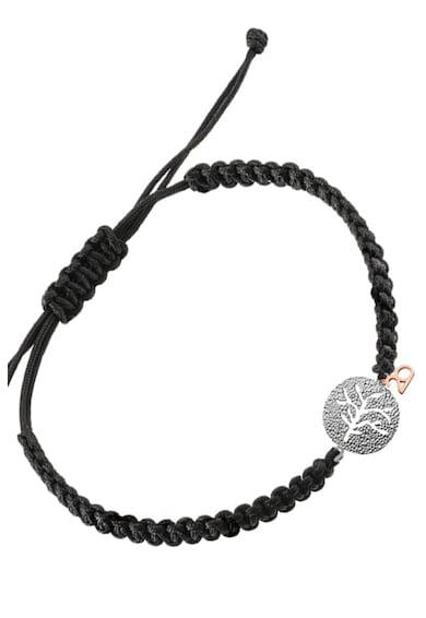 OXETTE Bratara din material textil cu talisman placat cu rodiu Femei