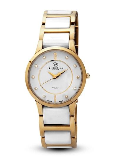 Christina Jewelry&Watches Bratara din ceramica placata cu aur de 24k si decorata cu cristale de safir Femei