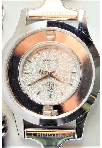 Christina Jewelry&Watches Ceas cu o curea de piele decorat cu un diamand si topaze Femei