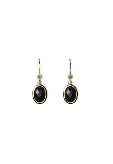 Christina Jewelry&Watches Cercei placati cu aur de 18K si decorati cu onix Femei