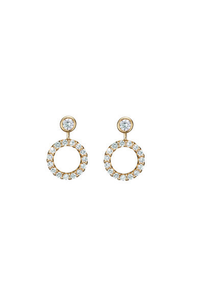Christina Jewelry&Watches Cercei din argint placati cu aur de 18K si decorati cu topaze Femei