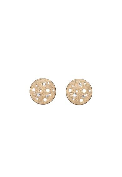 Christina Jewelry&Watches Cercei rotunzi din argint veritabil placati cu aur de 18K Femei