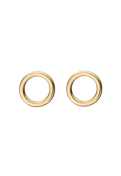 Christina Jewelry&Watches Cercei rotunzi cu tija, din argint veritabil placati cu aur de 18K Femei