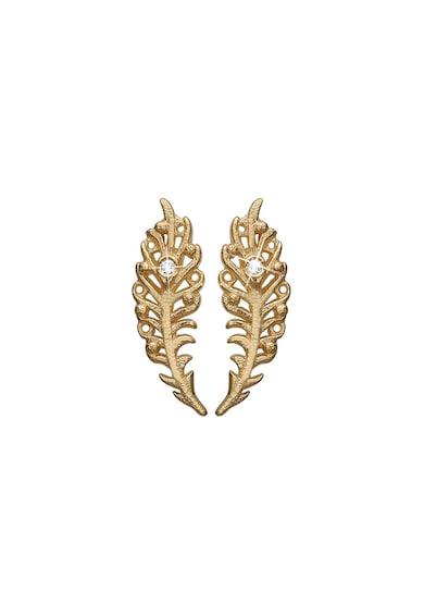Christina Jewelry&Watches Cercei in forma de pana, din argint veritabil placati cu aur de 18K Femei