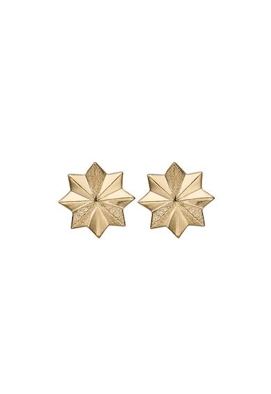 Christina Jewelry&Watches Cercei in forma de stea , din argint veritabil placati cu aur de 18K Femei