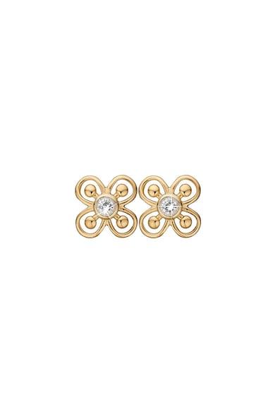 Christina Jewelry&Watches Cercei cu tija, din argint veritabil placati cu aur de 18K Femei