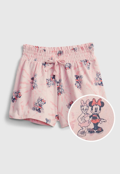 GAP Pantaloni scurti de bumbac organic cu model Minnie Mouse Fete