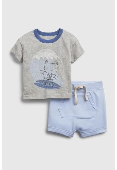 GAP Set de tricou si pantaloni scurti cu imprimeu grafic Fete