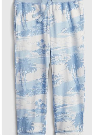 GAP Pantaloni sport cu imprimeu si snur in talie Fete