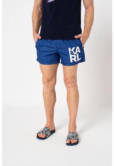 Karl Lagerfeld Pantaloni scurti de baie cu imprimeu logo supradimensionat Barbati