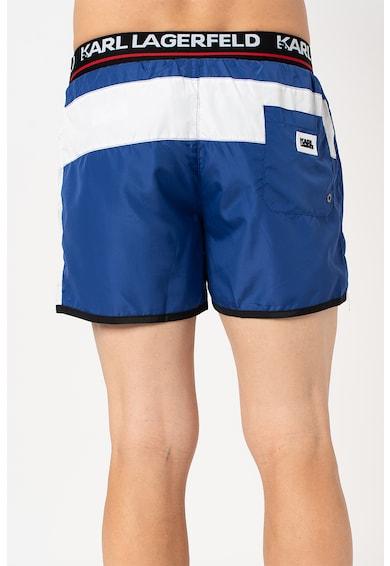 Karl Lagerfeld Pantaloni scurti de baie cu banda logo in talie Barbati