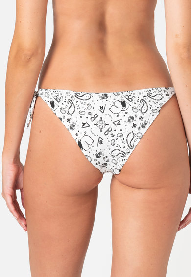 Karl Lagerfeld Slip brazilian cu snururi laterale si model grafic Femei