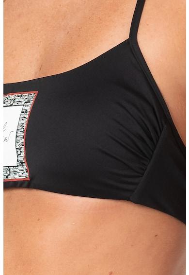 Karl Lagerfeld Sutien de baie cu imprimeu logo Femei