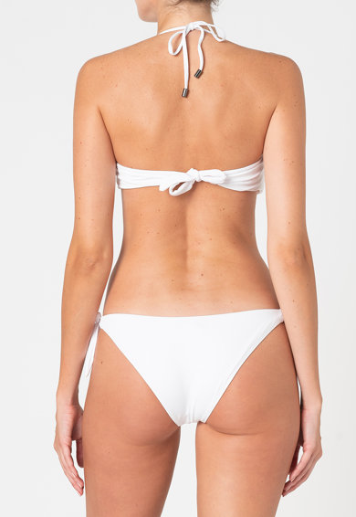 Karl Lagerfeld Sutien de baie cu decolteu halter si imprimeu logo Femei