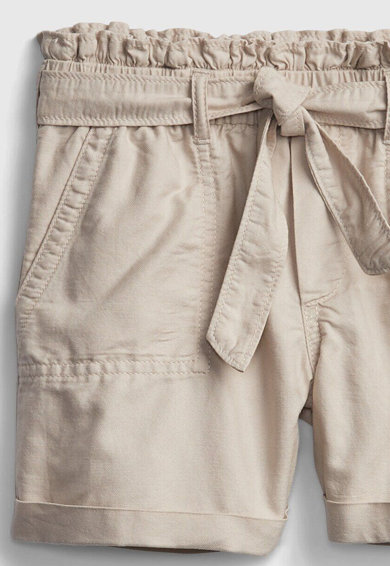 GAP Pantaloni scurti cu talie inalta si cordon detasabil Fete