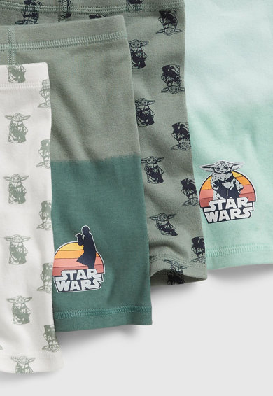 GAP Set 4 perechi de boxeri, baieti, cu tema Star Wars™, Verde/Alb Fete