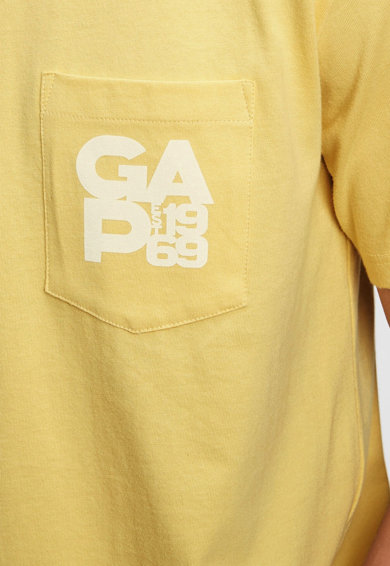 GAP Tricou de bumbac organic cu buzunar aplicat si logo Barbati