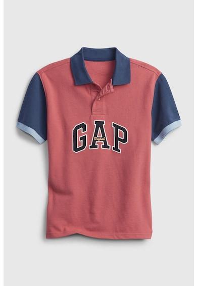GAP Tricou polo din pique cu logo pe piept Baieti