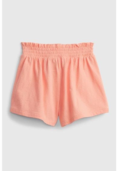 GAP Pantaloni scurti de bumbac organic cu talie elastica plisata Fete