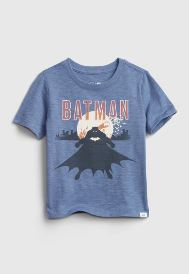 GAP Tricou cu imprimeu activat cu blit DC™ Batman Baieti