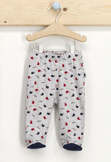 U.S. Polo Assn. Set 2 perechi pantaloni cu botosei, Bleumarin/Gri melange Baieti
