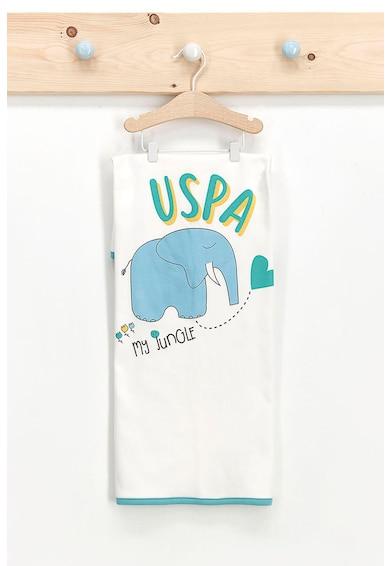 U.S. Polo Assn. Paturica din jerseu cu imprimeu logo si animale Baieti