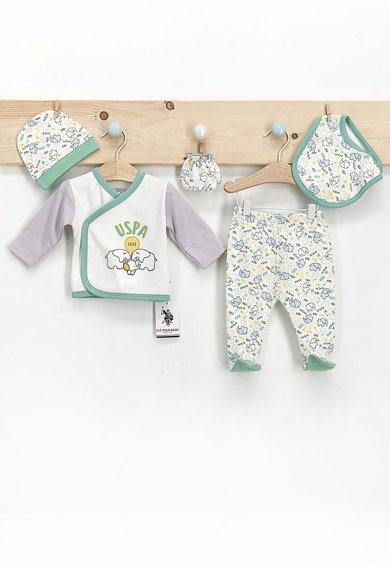 U.S. Polo Assn. Set de imbracaminte Verde persan/alb Baieti