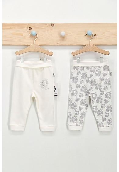 U.S. Polo Assn. Set 2 perechi pantaloni cu imprimeu, Alb/Negru Fete