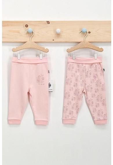U.S. Polo Assn. Set 2 perechi pantaloni cu imprimeu, Roz Fete