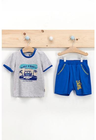 U.S. Polo Assn. Set de tricou cu imprimeu si pantaloni scurti Baieti