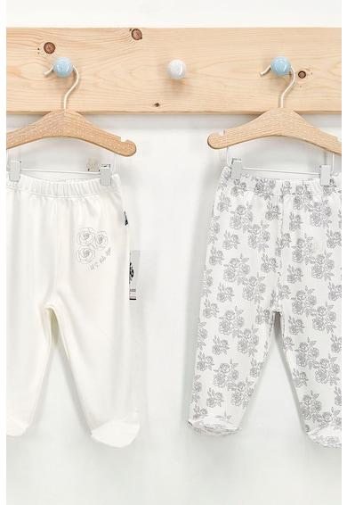 U.S. Polo Assn. Set 2 perechi pantaloni cu botosei, Alb/Negru Fete
